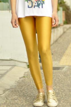 Κολάν μεταλλιζέ ψηλόμεσο χρυσό