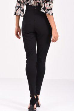 παντελόνι μαύρο ψηλόμεσο στενό - πίσω όψη